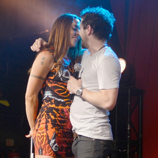 Mel C And Matt Cardle Enjoy Passionate Smooch On-Stage At G.A.Y