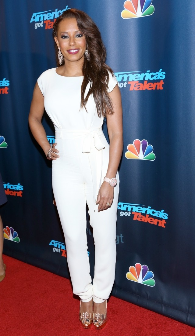 Hurrah! Mel B Swaps Bodycon Dress For White Jumpsuit At America's Got Talent Party