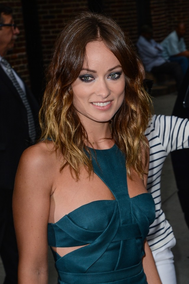 Olivia Wilde's Best Look Ever? Actress WOWS In Teal Dress (Plus We Get Close-Up Of The Rock)
