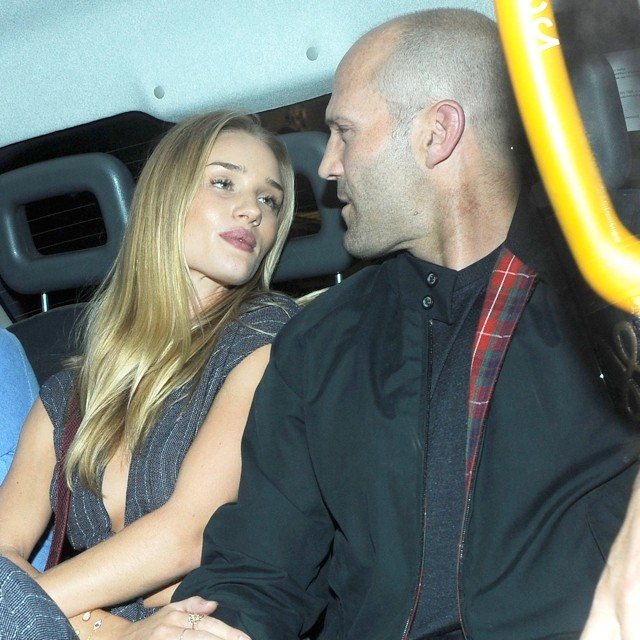 Rosie Huntington-Whiteley Does Crop Top And Flares For Dinner Date With Jason