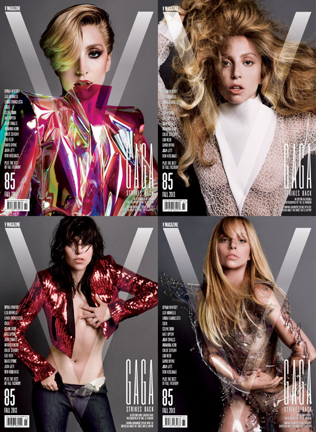 Lady Gaga Covers Not One Or Two, But Four Covers For v Magazine