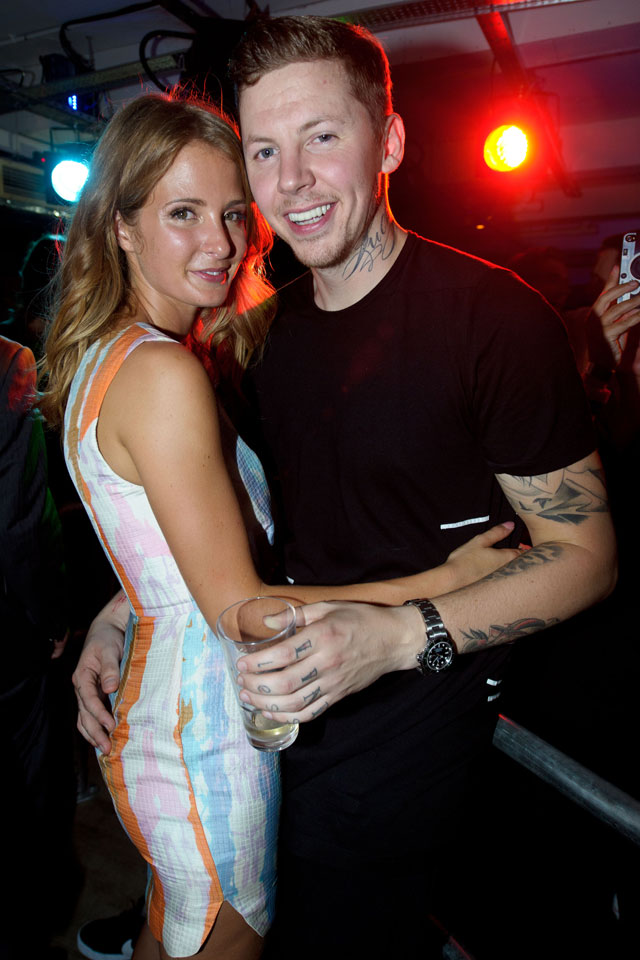 millie mackintosh and professor green at INK launch