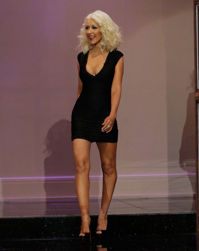 Guess Who's Back (And Trying To Upstage Britney) In A Tiny Little Black Dress?