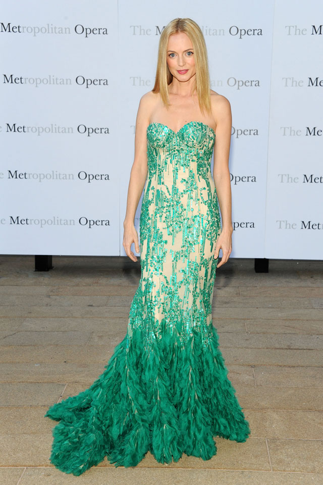 Heather Graham Is A Knockout In Sequins And Feathers For Met Opera Opening Night