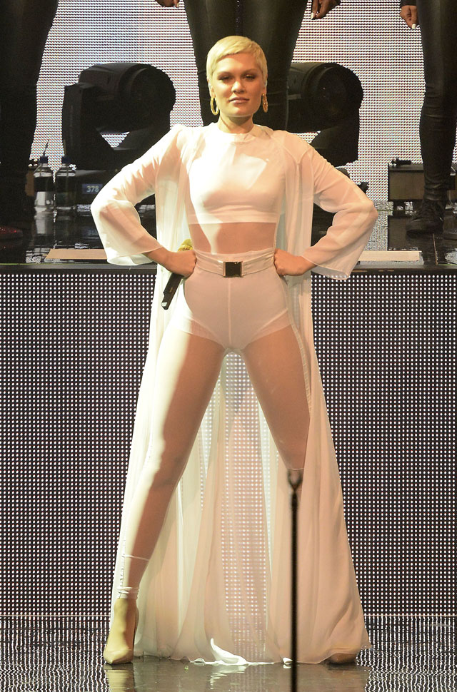 Will Jessie J Ever Stop Wearing Jumpsuits? Star's Latest Stage Style Is See-Through