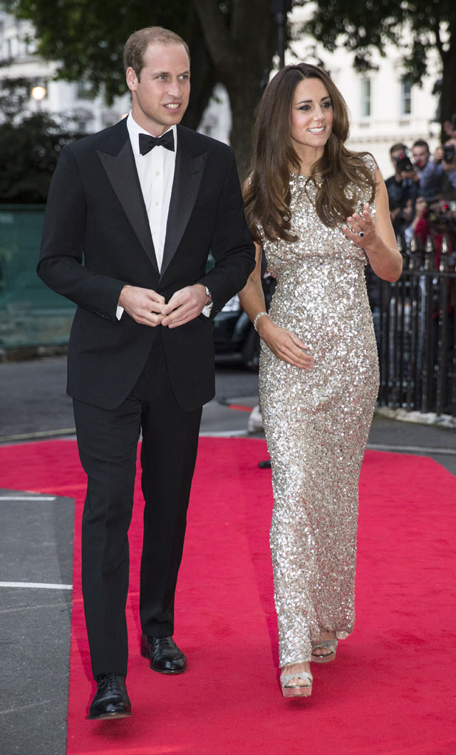 Duchess Kate Dazzles In Jenny Packham At First Red-Carpet Event