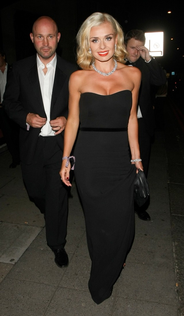 Katherine Jenkins Does BBD (Busty Black Dress) For Boodles Boxing Ball