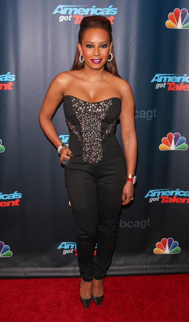 Mel B Dazzles In Encrusted Corset At America's Got Talent Launch In New York