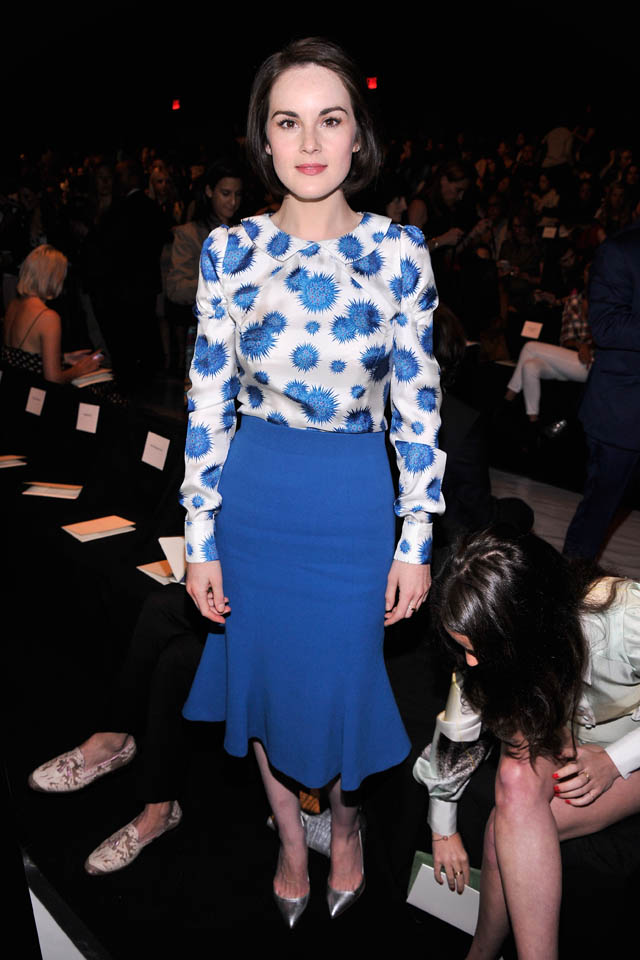 Michelle Dockery Goes Lady Mary Level Prim For New York Fashion Week