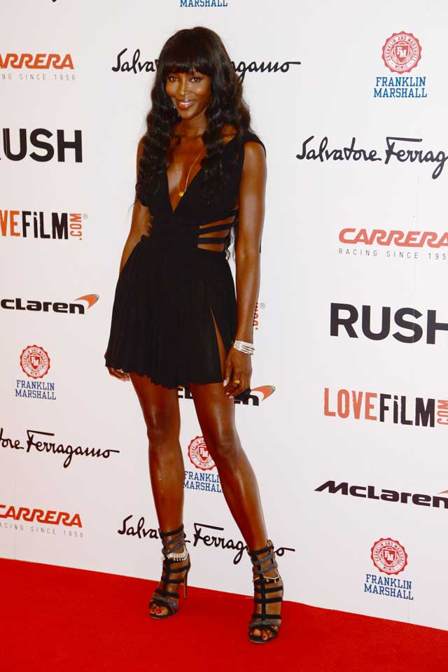 WOW! Naomi Campbell's Super Short, Cut-Out LBD For Rush Red Carpet