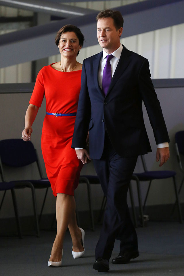 nick clegg and his wife miriam clegg at the lib dem party conference