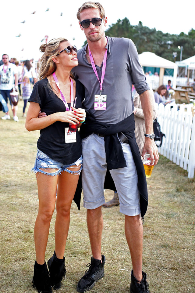 Abbey Clancy and Peter Crouch enjoy the Big Feastival