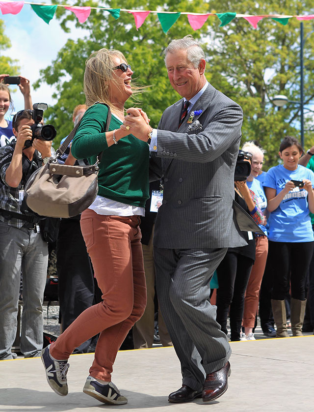prince charles says william & harry inherited his dance moves