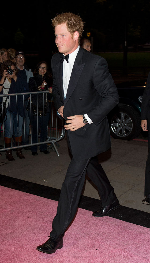 prince harry arrives at the boodles boxing ball without cressida bonas