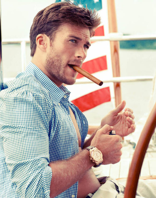 scott eastwood poses for town & country