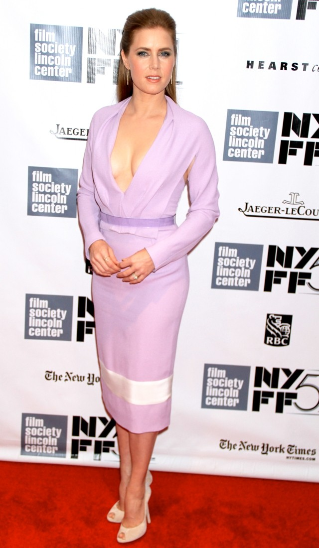 Amy Adams Lets It All Hang Out In Lilac At NY Premiere Of Her