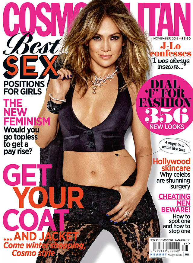Jennifer Lopez Reveals Surprising Insecurities As She Poses For Cosmopolitan Magazine