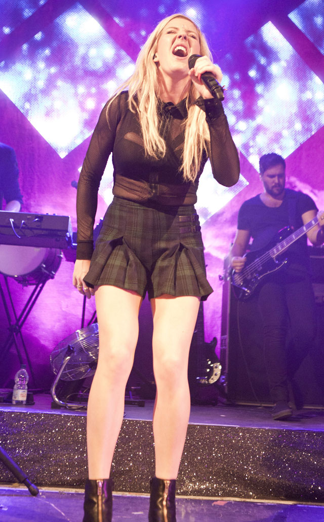Ellie Goulding Shows Us How To Do Sheer At Gig In Cardiff