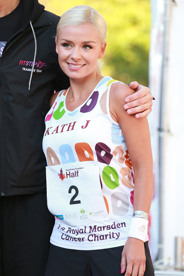 katherine jenkins runs the half marathon for charity