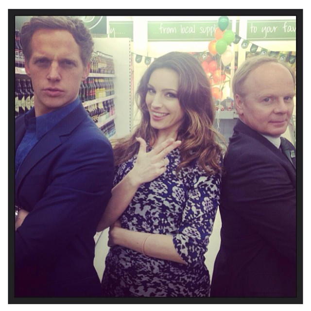 Has Kelly Brook Got A New Job? Star Poses On The Set Of Sky Show Trollied