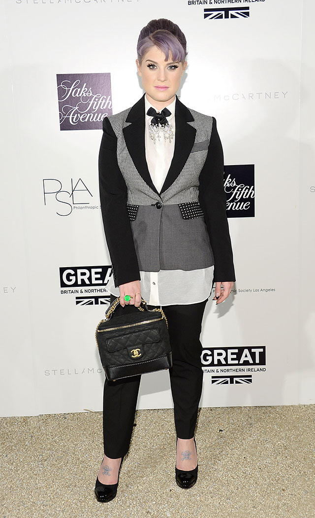 Kelly Osbourne Parties In Tux And Bow Tie For Stella McCartney Event In LA