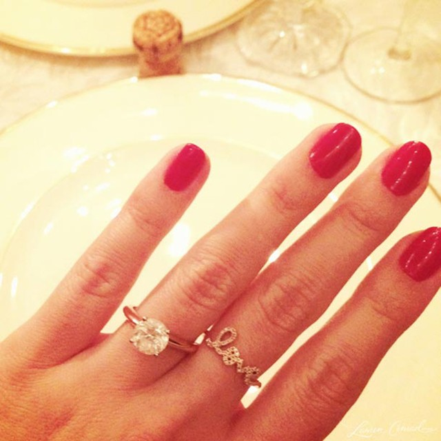 lauren conrad's engagement ring