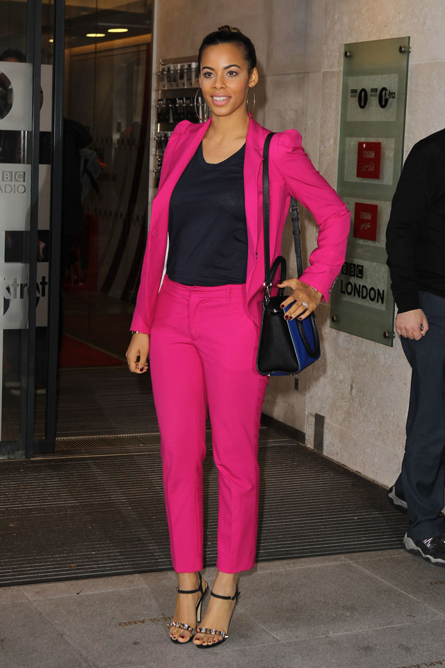 Rochelle Humes' Head-To-Toe Fuchsia? Amazing