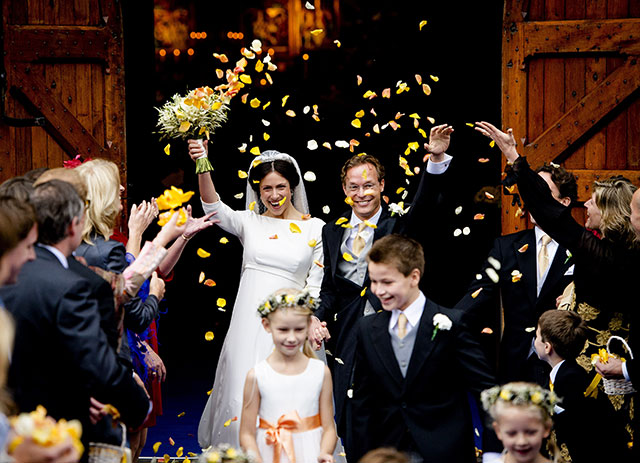 Prince Jaime de Bourbon Parme and Viktoria Cservenyak's wedding