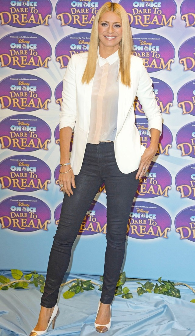 A Blazer Of Glory: Tess Daly Is Quite White For Disney Launch
