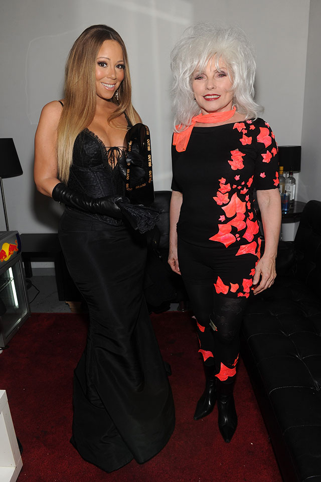 Mariah Carey Doing With Debbie Harry? (And What Is She Wearing?!)
