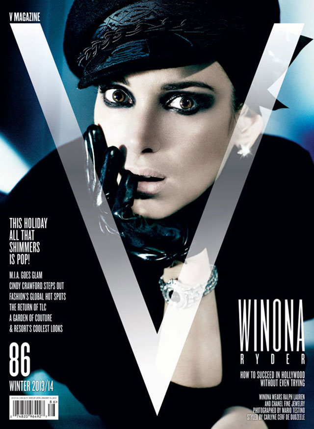 Winona Ryder Goes Gothic For V Magazine Cover