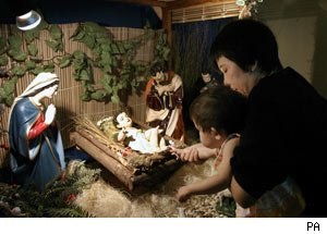 Baby Jesus nativity scene