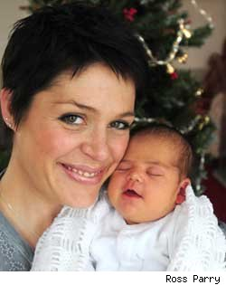 Audrie Woodhouse gave birth to Beatrice on Christmas Day despite domestic disasters