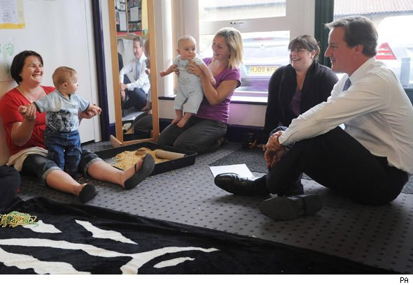 David Cameron at Sure Start centre