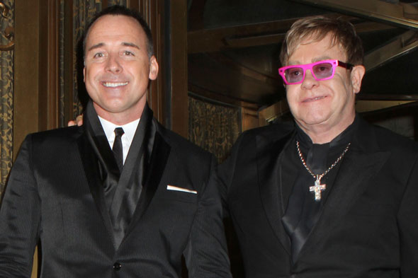 Elton John and David Furnish are first gay couple to be nominated for Celebrity Dad of the Year