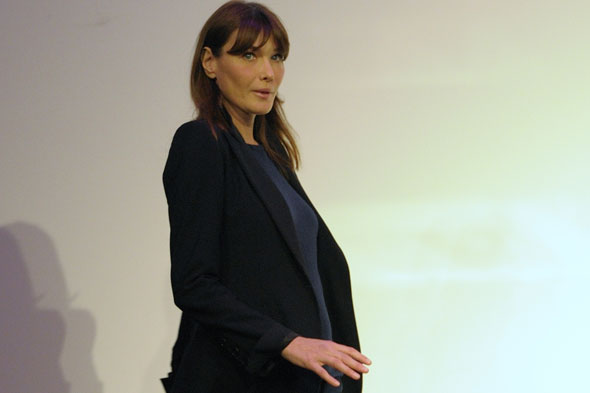 Carla Bruni is officially pregnant