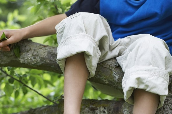 Should we let our children take more risks? My climbing son...with a broken arm