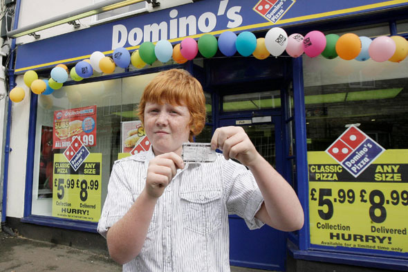 Dominos pizza say sorry to boy they branded the 'ginger kid'