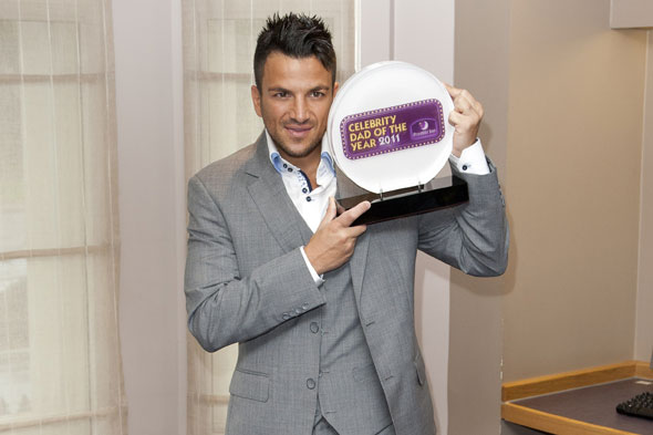 Peter Andre is crowned Dad of the Year