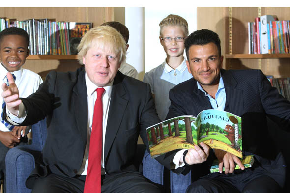Peter Andre signs with Ladybird - and Boris Johnson reads the Gruffalo!