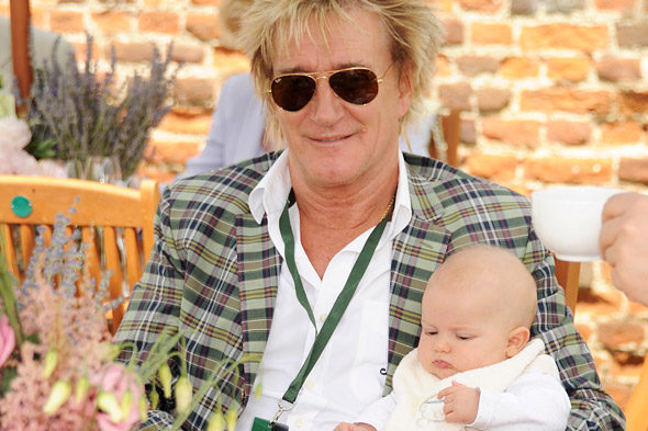 Rod Stewart has a day out with his mini-me son Aiden