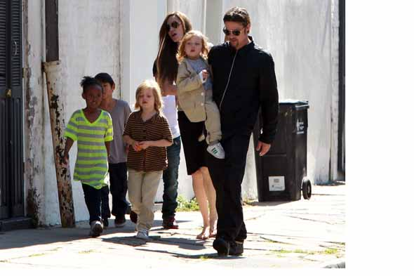 Angelina Jolie's kids eat insects