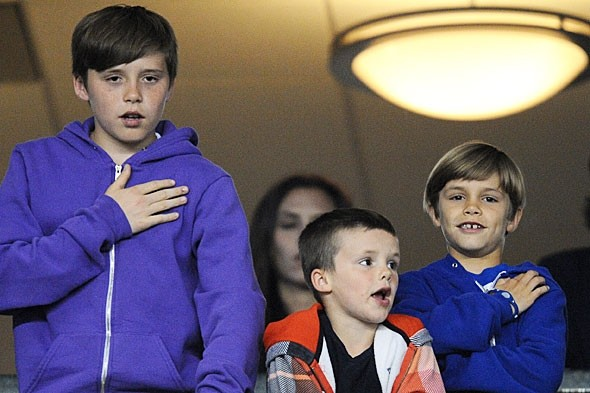 Harper Seven Beckham can blame her big brothers for her name