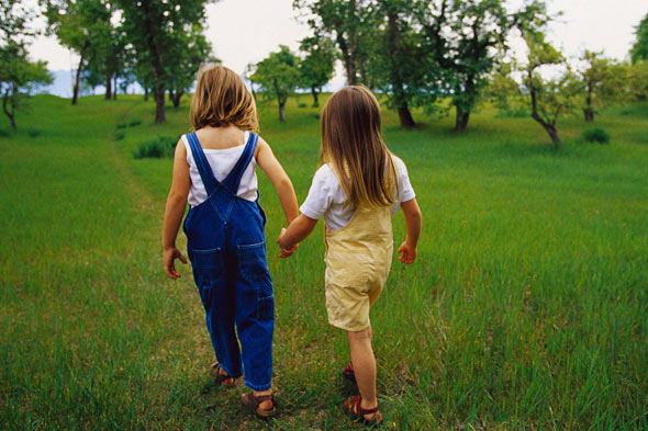 Five-year-old girl and friend let themselves out of school and walk home