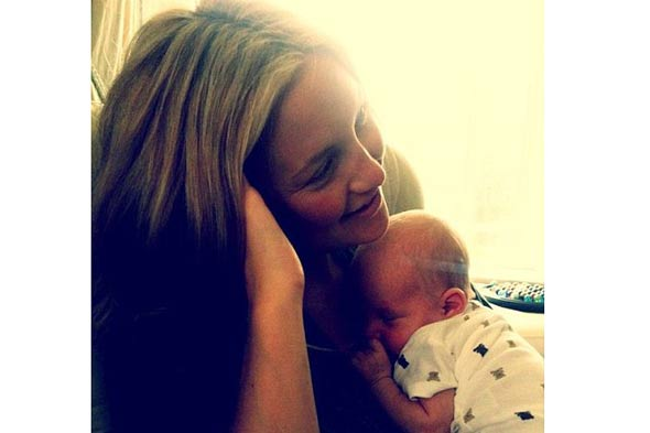 First pic! new baby Bingham with mum Kate Hudson