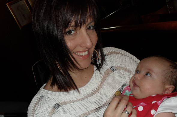 Natalie Brown and baby Niamh