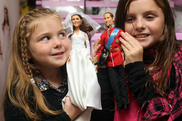 £100 Prince William and Kate wedding dolls