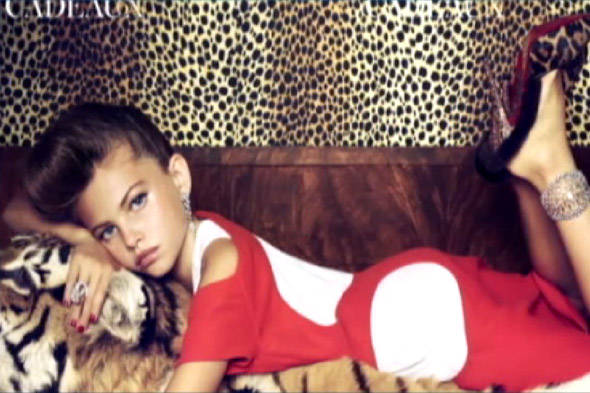 Ten-year-old supermodel's risque Vogue shoot causes outrage