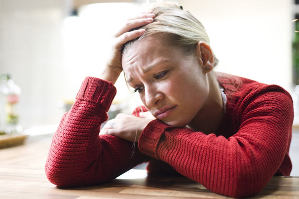 Woman worrying and imagining the worst