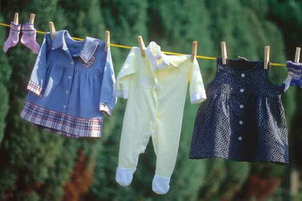 Clothes on a washing line
